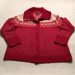 Eddie Bauer Zip-Front Cardigan Sweater